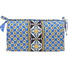 Vera Bradley Riviera Blue Medium Bow Cosmetic travel case cosmetic bag NWT Retired