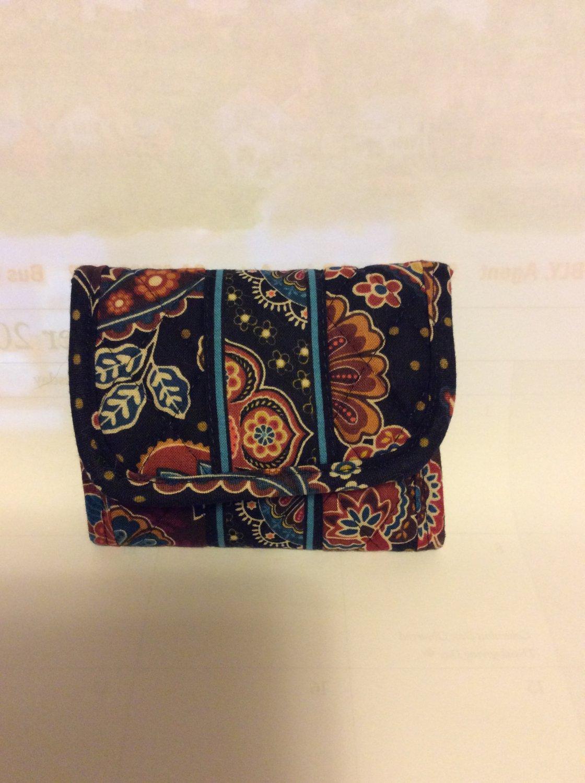 Vera Bradley Pocket Wallet Kensington  Retired coin purse card case fold-over ID card case