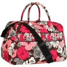 Vera Bradley Weekender Mocha Rouge  overnight carry-on Retired