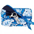 Vera Bradley Blue Lagoon Coin and Key NWT Retired  ID case PDA tech