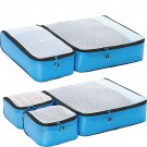 eBags Ultralight Packing Cubes - Aquamarine Turquoise Blue Super Packer 5pc Set travel organizers