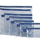 Travelon set/7 Packing Envelopes travel case accessories vinyl  blue