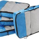 Amazon Basics 4 pc Large Packing Cube Set  NWT Blue  travel accessory [royal blue]