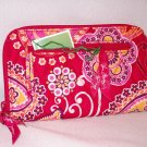 Vera Bradley Zip Around Wallet Rasberry Fizz passport holder organizer wristlet NWT Retired