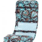 Vera Bradley Hanging Organizer Java Blue  travel packing aid foldup cosmetic toiletry case