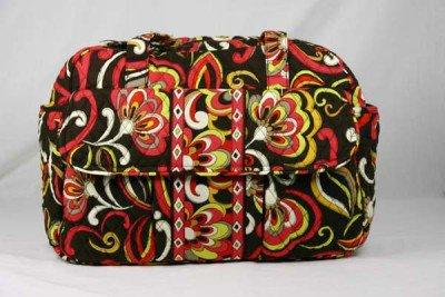 Vera Bradley Baby Bag diaper Puccini red brown weekender overnighter NWT  travel bag