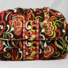 Vera Bradley Baby Bag diaper Puccini red brown weekender overnighter NWT  travel bag