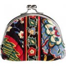 Vera Bradley Double Kiss coin purse Versailles  NWT Retired