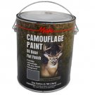 1 GAL GALLON CAN-PAINT-CAMO CAMOUFLAGE-BARK GRAY-OIL BASE FLAT DIY-450 SQ FT/GAL