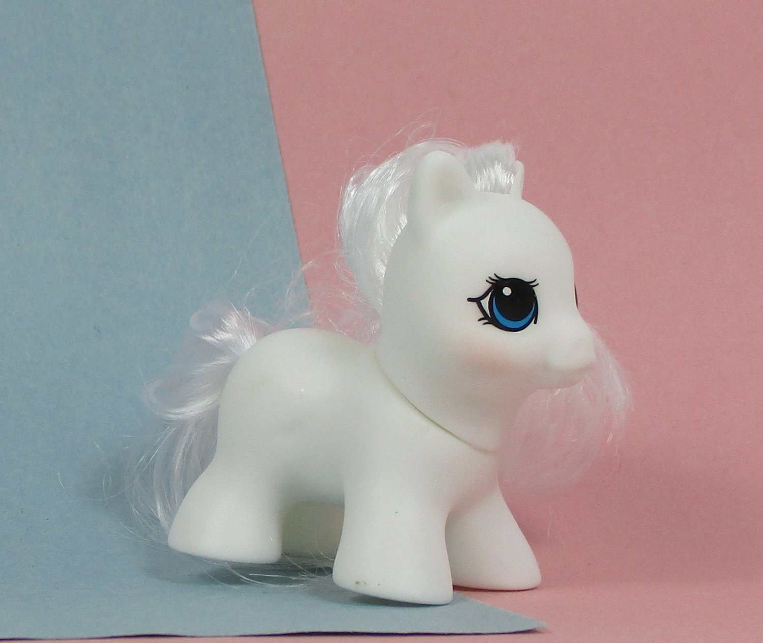 Little Pony Baby BLANK Tiny HQG1C Teeny White Hair Classic 1980s Style Cute 2 Inch Toy Customization