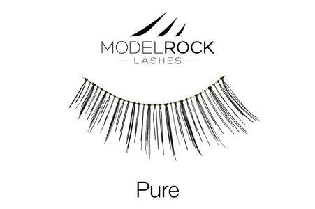 Model Rock Lashes Natural Wedding Lashes Eye Makeup - Pure