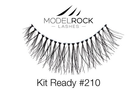 Model Rock False Eyelashes No. 210 Natural Eye Makeup