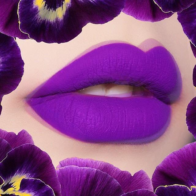 Lime Crime Pansy Velvetines Matte Purple Lipstain Lipstick