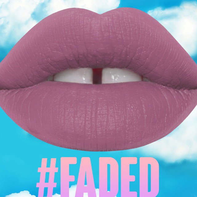 Lime Crime Faded Velvetines Matte Beige Purple Lipstain Lipstick