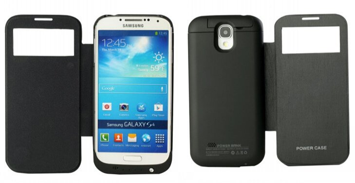 3200mAh Backup Power Bank External Battery Charger Case Cover for Samsung S4(i9500)