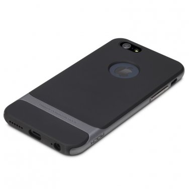Rocks iPhone 6 TPU/PU Protective Back Case Iron Grey