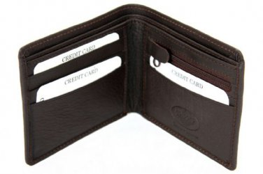 BRAND NEW MENS QUALITY LUXURY SOFT BLACK REAL LEATHER WALLET 2507