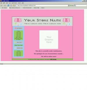 1 Premade Website Template (flower)