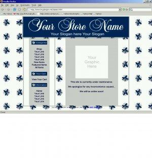 1 Premade Website Template (daisies)