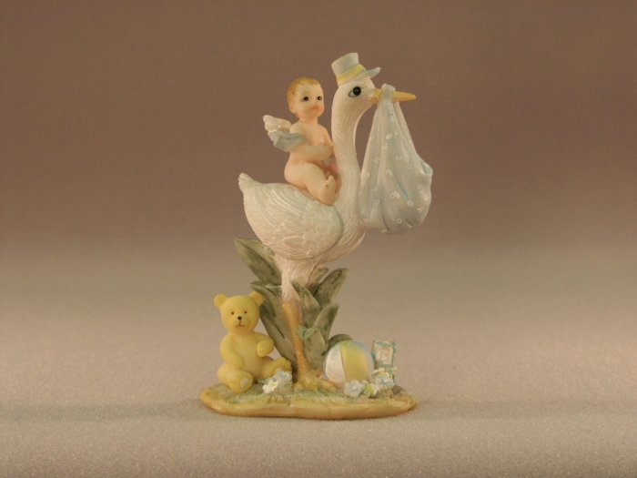 Stork with Winged Baby