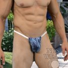 Wild Night Sheer Blue Fern G-String