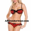 Bow Mesh Bra & Panty Set By Abcunderwear.com