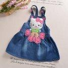 Denim Kitty Baby Girl Cartoon Princess Dress 12m - 5T