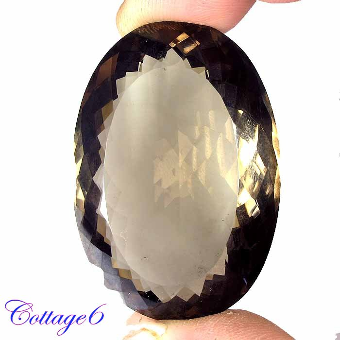 Certified AA +++ 154.23Cts. NATURAL BROWN SMOKY QUARTZ OVAL SHAPE CUT GEMSTONE C6-2301