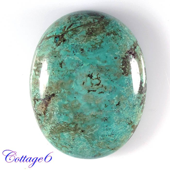 cERTIFIED ! 67.78Cts. NATURAL GREEN TIBET TURQUOISE OVAL CABOCHON GEMSTONE C6-2123