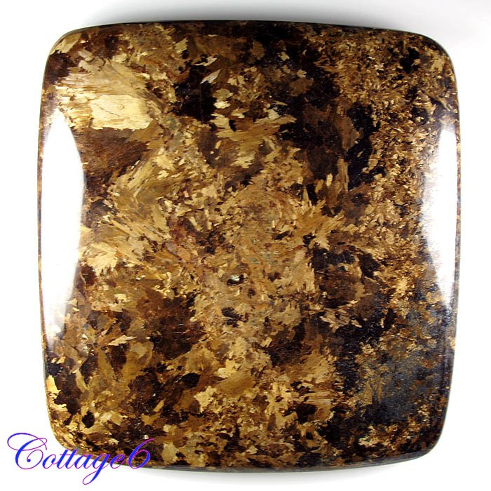 Certified  408.00Cts. NATURAL BRONZITE CABOCHON GEMSTONE C6-2245