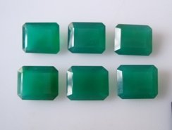 Certified Green onyx AAA Quality 10x12 mm Faceted Octagon 2 pcs Pair loose gemstone