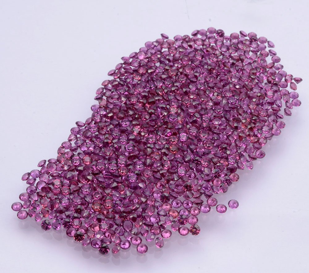 Certified Natural Rhodolite AAA Quality 1 mm Faceted Round 100 pcs lot loose gemstone