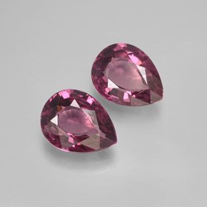 Certified Natural Rhodolite AAA Quality 7x5 mm Faceted Pear 5 pcs lot loose gemstone