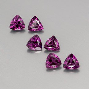 Certified Natural Rhodolite AAA Quality 3.5 mm Faceted trillion 50 pcs lot loose gemstone