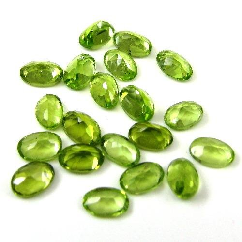 Certified Natural Peridot AAA Quality 7x5 mm Faceted Oval 2 pcs pair  loose gemstone