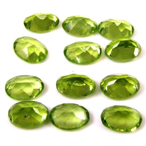 Certified Natural Peridot AAA Quality 7x5 mm Faceted Oval 10 pcs lot loose gemstone