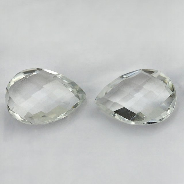 Certified Natural White Topaz AAA Quality 4x3 mm Faceted Pear 25 pcs lot loose gemstone
