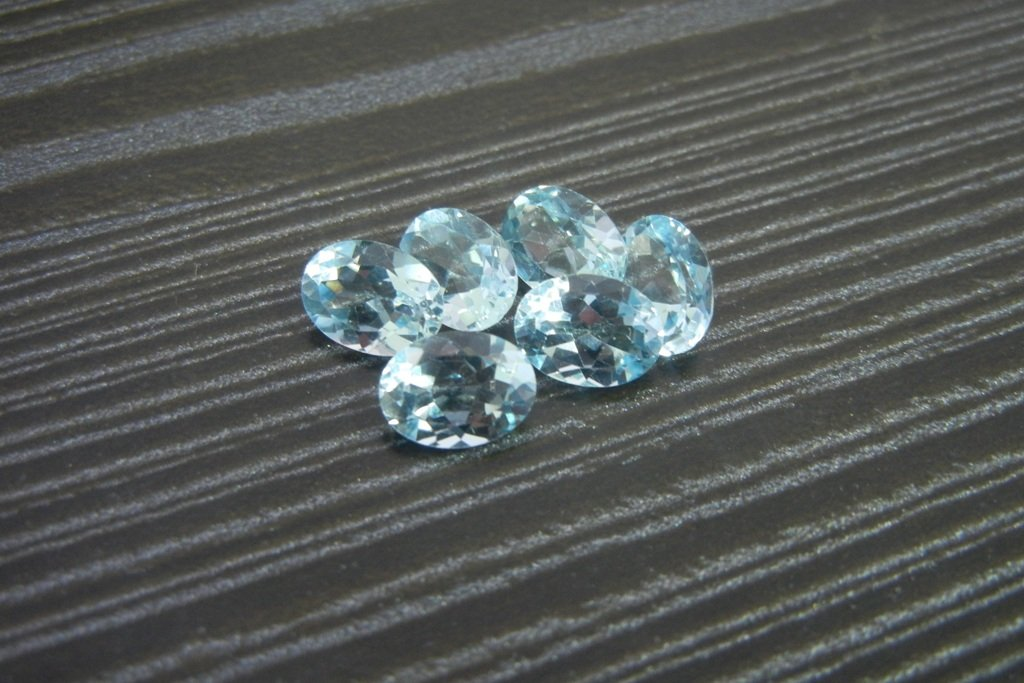 Certified Natural Sky Blue Topaz AAA Quality 5x3 mm Faceted Oval 10 pcs lot loose gemstone