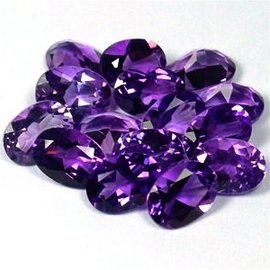 Certified Natural Amethyst AAA Quality 7x5 mm Faceted Oval 25 pcs lot loose gemstone