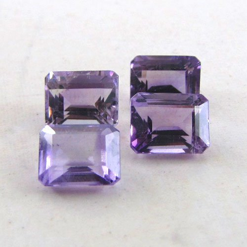 Certified Natural Amethyst AAA Quality 6x4 mm Faceted Octagon 10 pcs lot loose gemstone