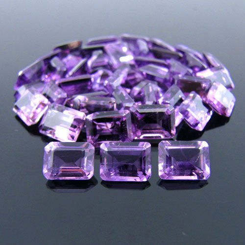 Certified Natural Amethyst AAA Quality 6x4 mm Faceted Octagon 50 pcs lot loose gemstone