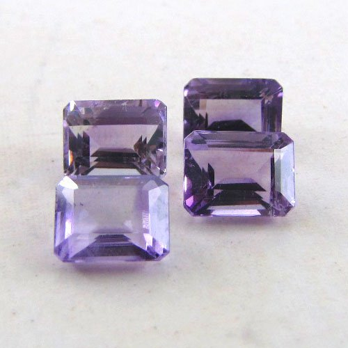 Certified Natural Amethyst AAA Quality 8x6 mm Faceted Octagon 5 pcs lot loose gemstone