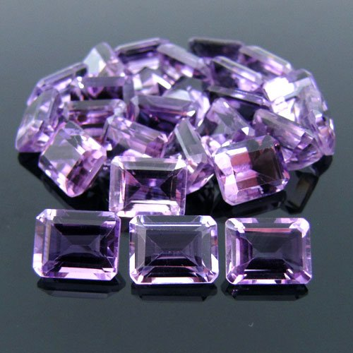Certified Natural Amethyst AAA Quality 12x10 mm Faceted Octagon 10 pcs lot loose gemstone
