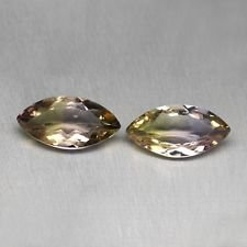 Certified Quartz Doublets Bi-color AAA Quality 12x6 mm Faceted Marquise 2 pcs Pair loose gemstone