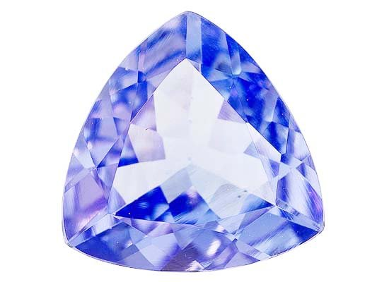Certified Natural Tanzanite A Quality 5.5 mm Faceted Trillion 1 pc loose gemstone