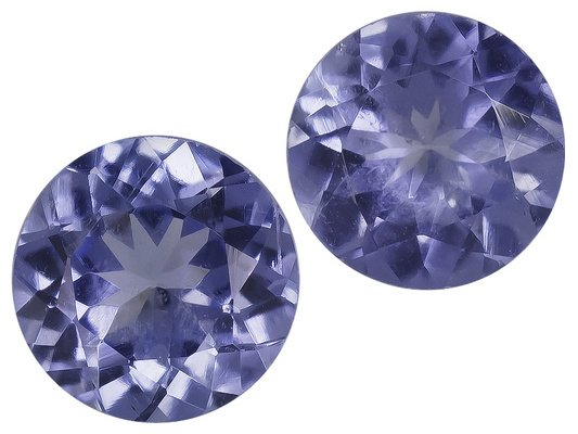 Certified Natural Tanzanite AA Quality 5.5 mm Faceted Round 5 pcs lot loose gemstone