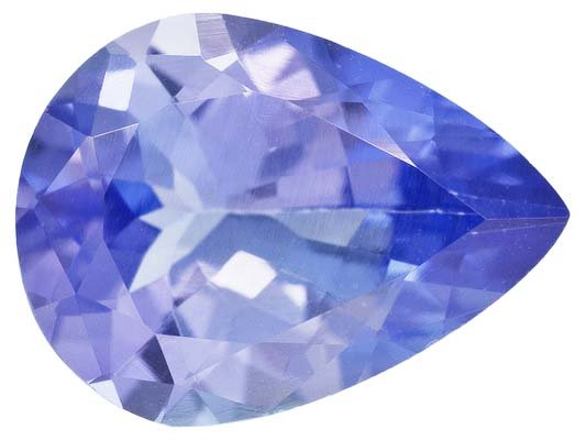 Certified Natural Tanzanite AA Quality 7x5 mm Faceted Pear 1 pc loose gemstone