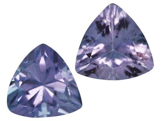 Certified Natural Tanzanite AA Quality 3.5 mm Faceted Trillion 10 pcs lot loose gemstone
