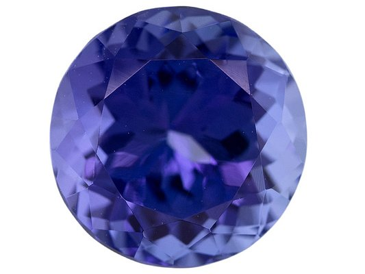 Certified Natural Tanzanite AAA Quality 2.5 mm Faceted Round 50 pcs lot loose gemstone