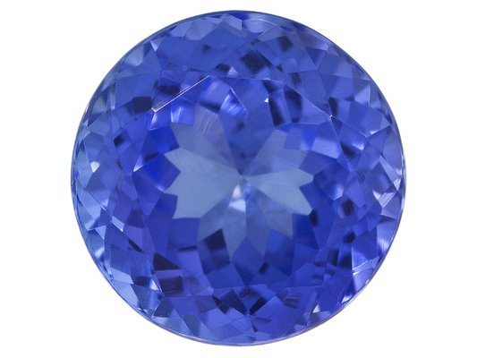 Certified Natural Tanzanite AAA Quality 6 mm Faceted Round 1 pc loose gemstone